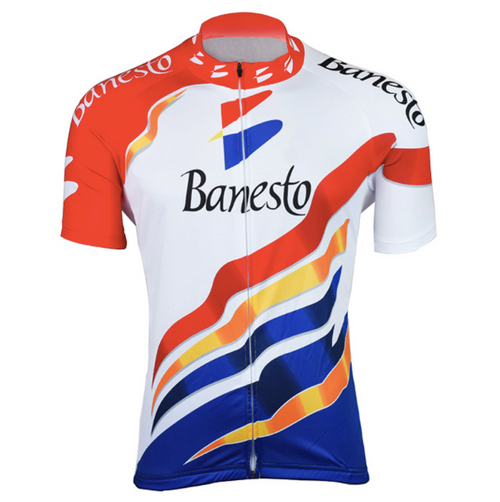 Retro Cycling Jersey Banesto - White/Red/Blue