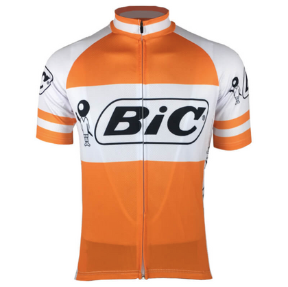 Retro Cycling Jersey Bic - Orange