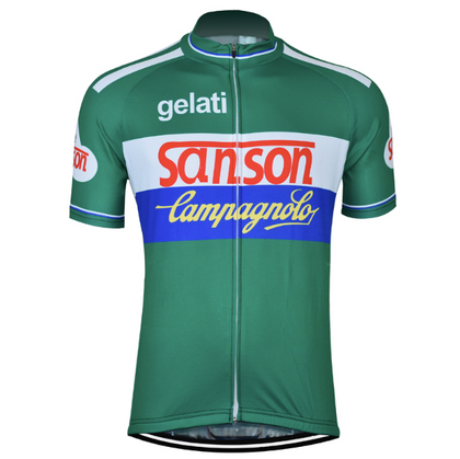 Retro Cycling Jersey Sanson - Green