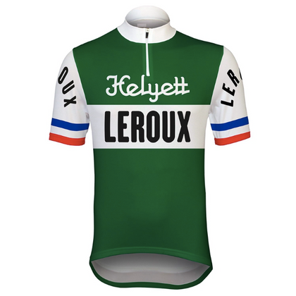 Retro Cycling Jersey Helyett Leroux - Green