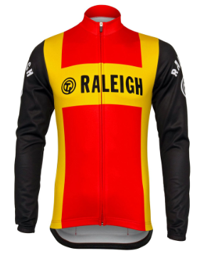 Retro Wielershirt TI-Raleigh Lange Mouwen - Rood