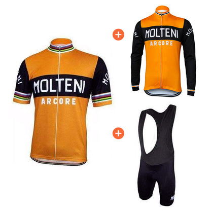 Retro Cycling Combinationset Molteni Arcore - Orange