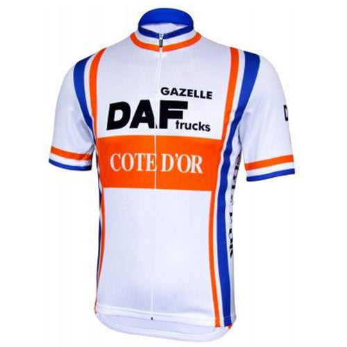 Retro Cycling Jersey DAF Truck - White