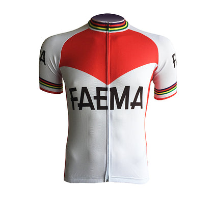 Retro Cycling Jersey Faema - Red/White
