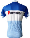 Retro Wielershirt Ferretti - Blauw/wit