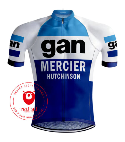 Retro Wielershirt Gan Mercier - REDTED