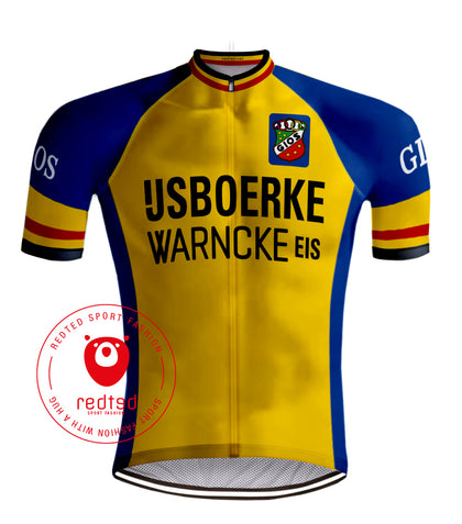 IJSBOERKE RETRO CYCLING JERSEY - REDTED RETRO