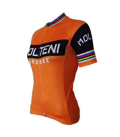 Retro Cycling Jersey Women Molteni - Orange