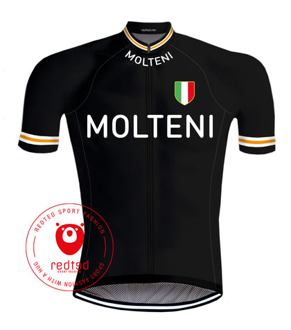 Maillot Cycliste Molteni Noir - REDTED