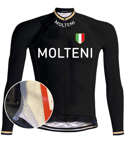 Molteni Retro Cycling jersey Orange - RedTed Retro
