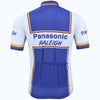 Retro Wielershirt Panasonic Raleigh - Wit/Blauw