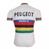 Retro Cycling Jersey Peugeot - Rainbow