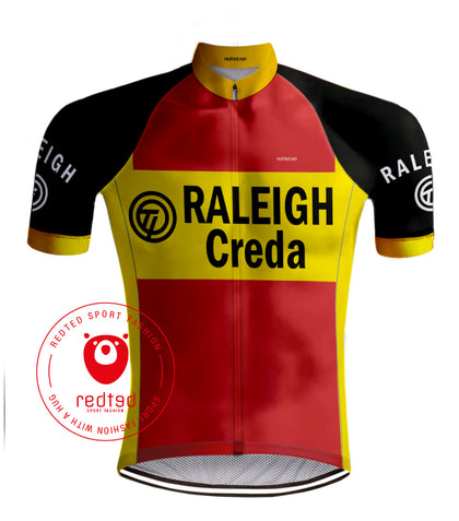 Retro Cycling jersey TI-RALEIGH - REDTED