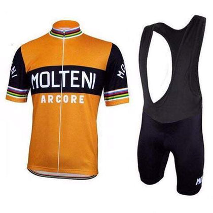 Retro Radtrikot Set Molteni Arcore - Orange