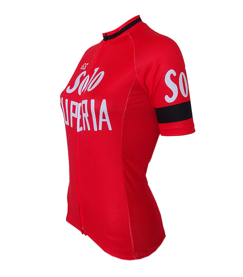 Retro Cycling Jersey Women Solo Superia - Red
