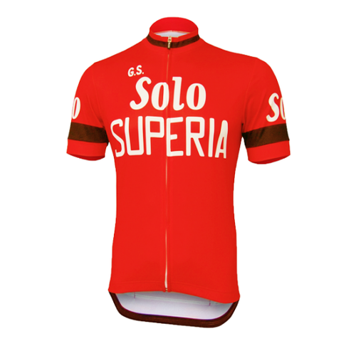 Retro Cycling Jersey Solo Superia - Red