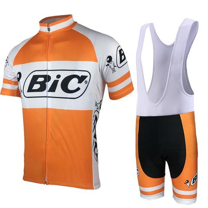 Retro Cycling Outfit Bic - Orange