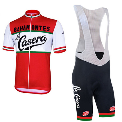 Retro Cycling Outfit La Casera - Red