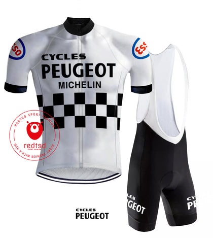 Cycling Outfit Peugeot White/Black - REDTED