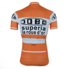 Retro Cycling Jersey Jobo Superia - Orange/White