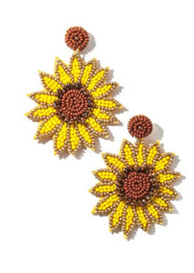 Jumbo Sunflower Earrings