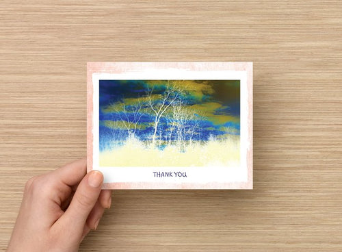 Canopy of Trees thank you card - 5 pack - 4 x 5 - blank inside