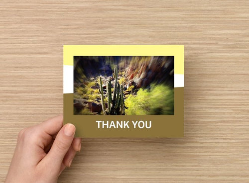 Thank you card - Cacti - 5 pack - 4 x 5 blank