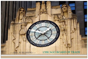 Clock on the Chicago Board of Trade building