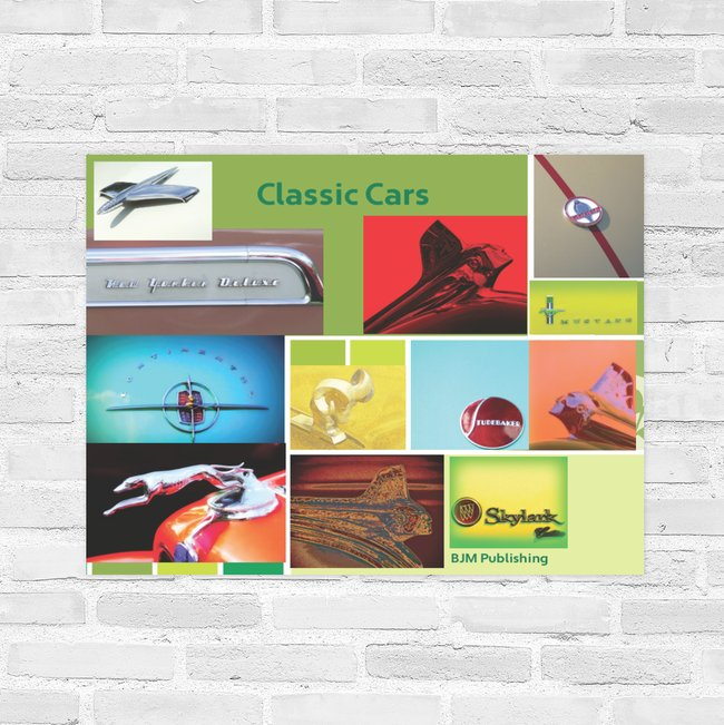 Poster - Car Classics of yesteryear - 22 x 28 inches