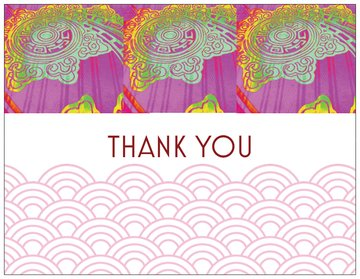 Thank you card - Modern Design - 5 pack - 4 x 5 blank