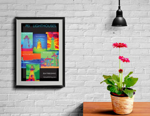 Poster - PEI Lighthouses - 24 x 36 inches
