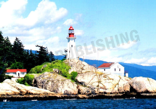 Greeting Card - Places - BC lighthouse -Horizontal