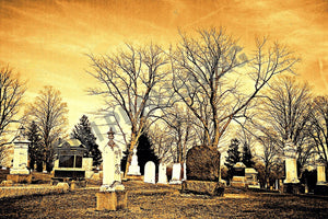Greeting Card - Places - Cemetery - Horizontal