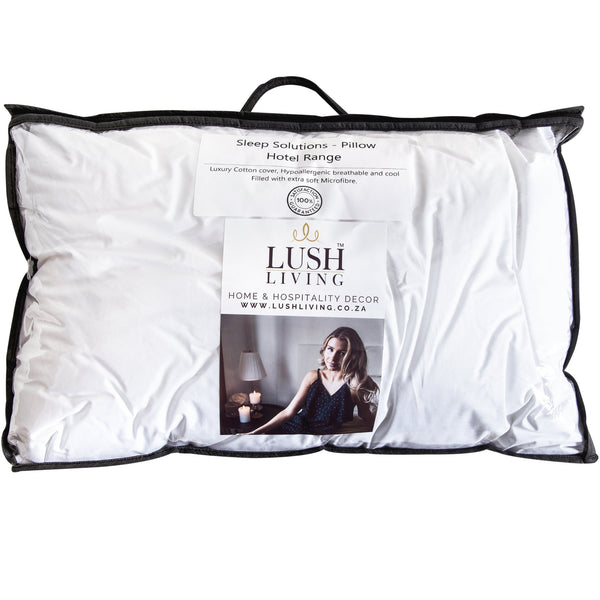 Sleep Solutions - Hotel Range Standard Size Pillow Cotton