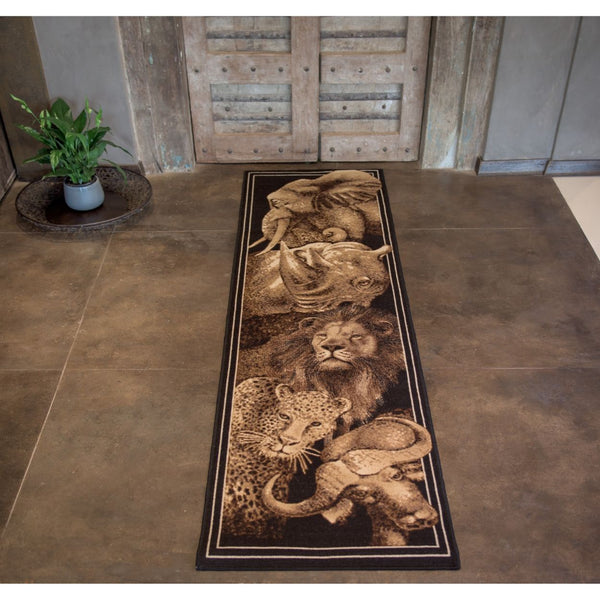 Rug Safari Big Five Runner 70 x 250