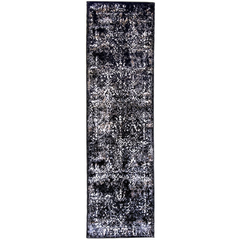 Rug Windsor Black Grey/Beige - 70 x 250cm