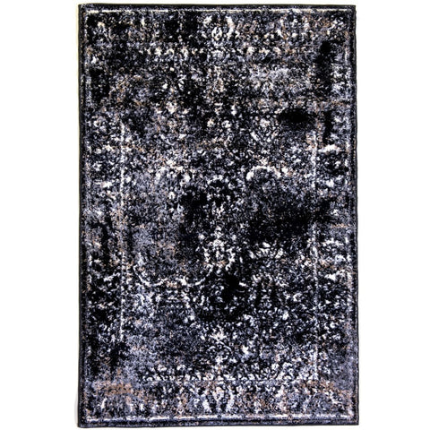 Rug Windsor Black Grey/Beige - 133 x 210cm