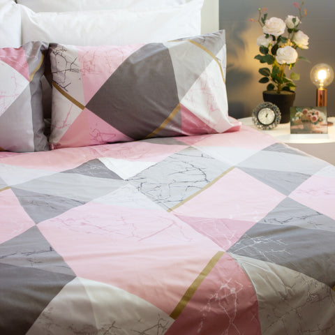 Duvet Cover Set - Arabella Pink - Queen