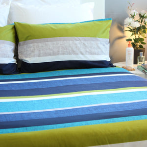 Duvet Cover Set - Blue Green Curacao - Queen