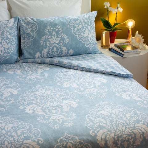 Duvet Cover Set - Cerulean Blue - King