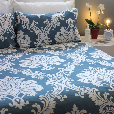 Duvet Cover Set - Coronation Blue - Queen