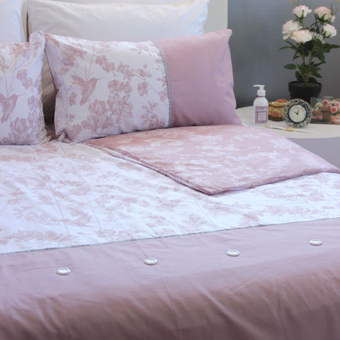 Duvet Cover Set - Elysian Dusty Pink - Queen