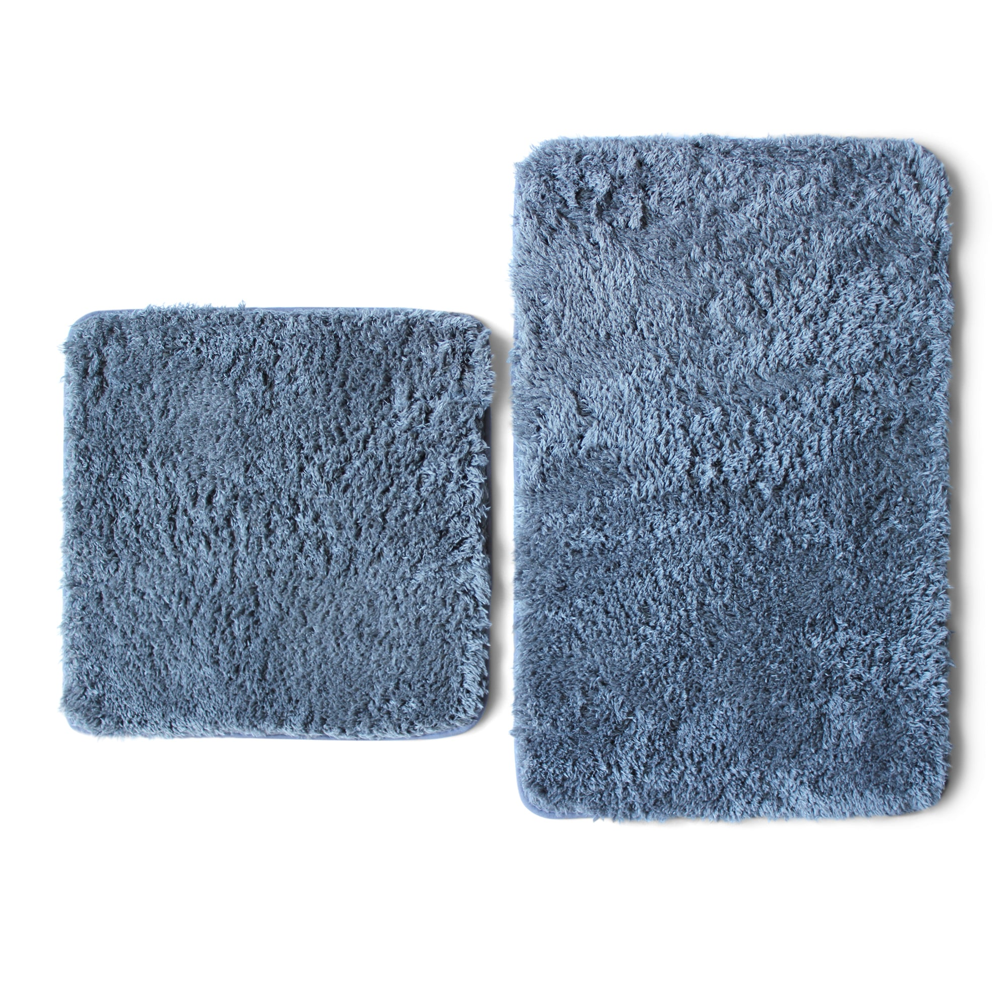 Lush Living - Bath-Boutique Spa Shaggy Bath Mat Set - 2 Piece - Grey