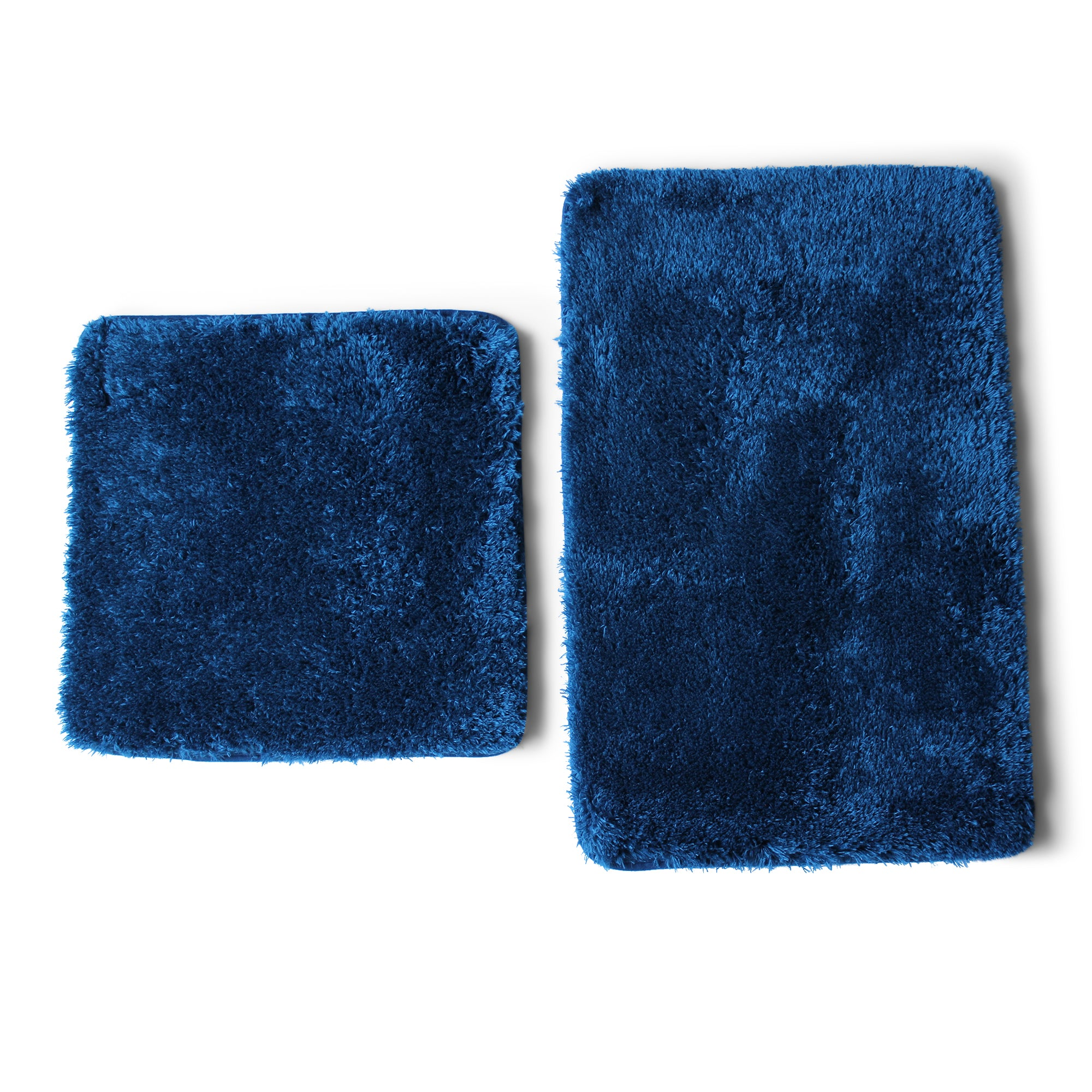 Lush Living - Bath-Boutique Spa Shaggy Bath Mat Set - 2 Piece - Navy