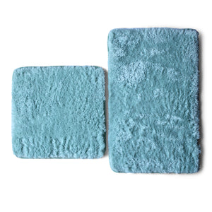 Lush Living - Bath-Boutique Spa Shaggy Bath Mat Set - 2 Piece - Teal