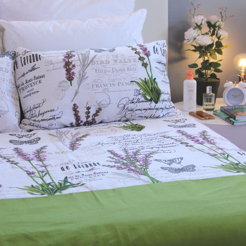 Duvet Cover Set - Green Meadow - Queen