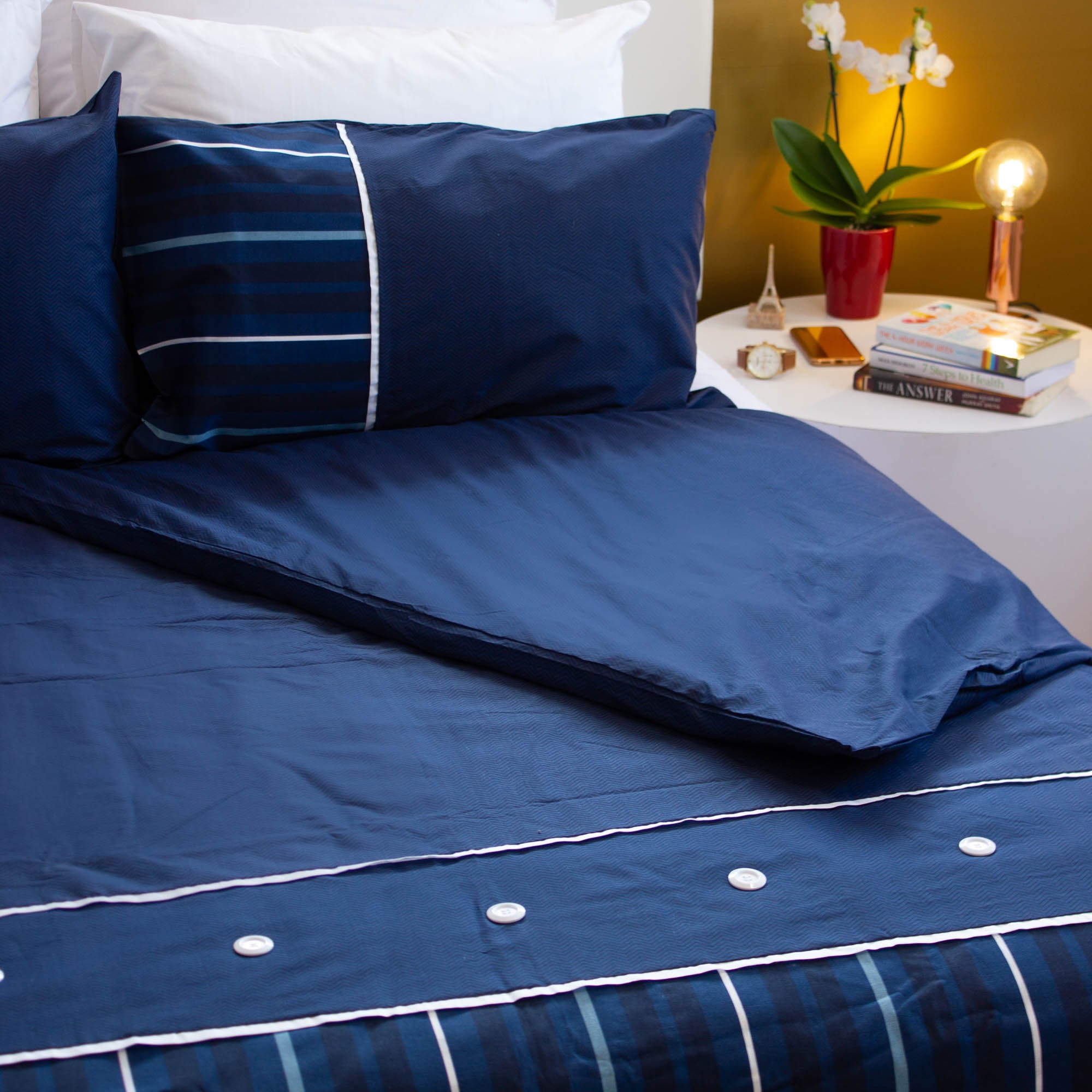 Duvet Cover Set - Nautical Blue - King
