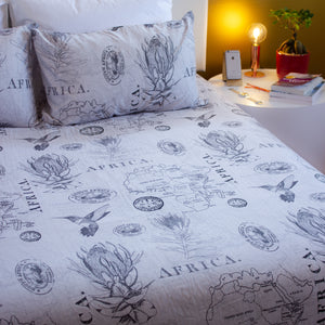 Duvet Cover Set - Protea - Queen