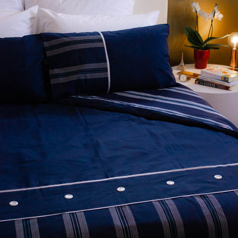 Duvet Cover Set - Saphire Blue - King