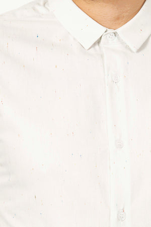 Chemise Homme Farfan Rayas de Color Blanc Coton de Qualité | Misericordia - Boutique Officielle basique intemporel du vestiaire masculin contemporain et durable